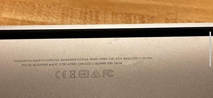 MacBook Pro 2018 info