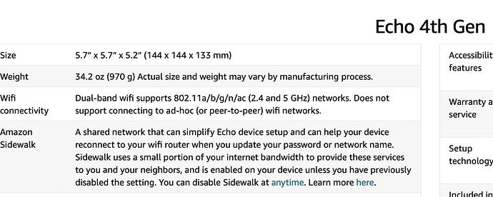 Echo 4th Gen Description