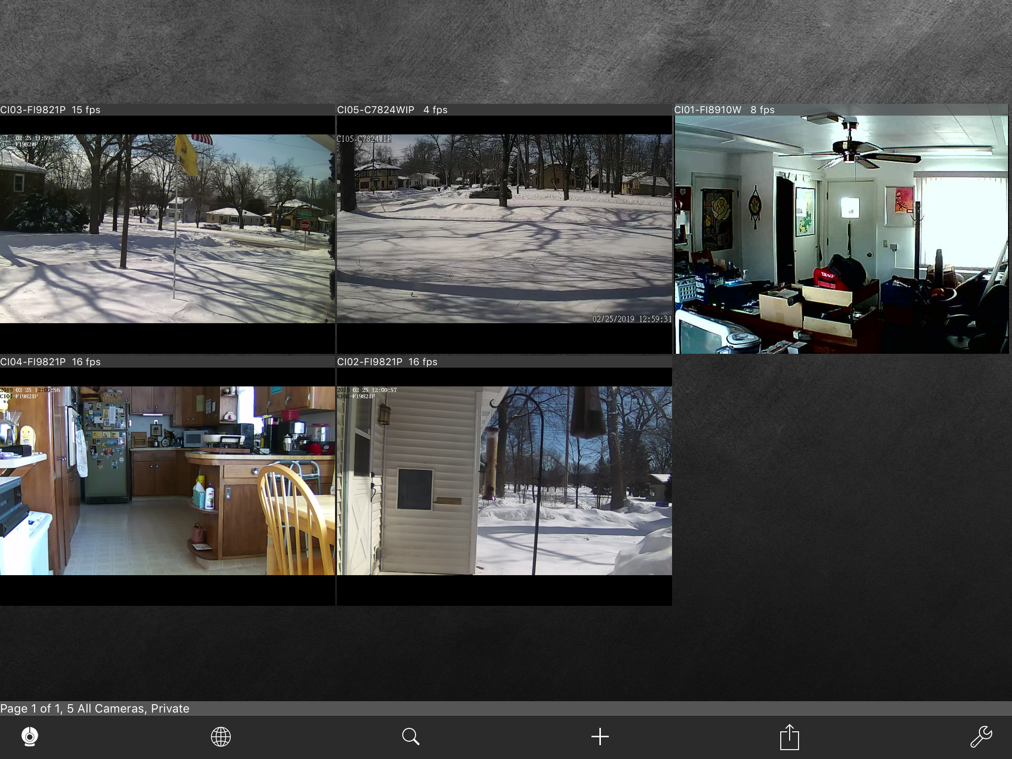 Indoor security camera without ongoing recording to the cloud costs