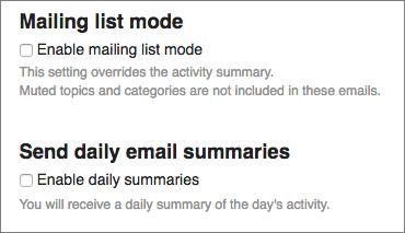 Daily Summary setting
