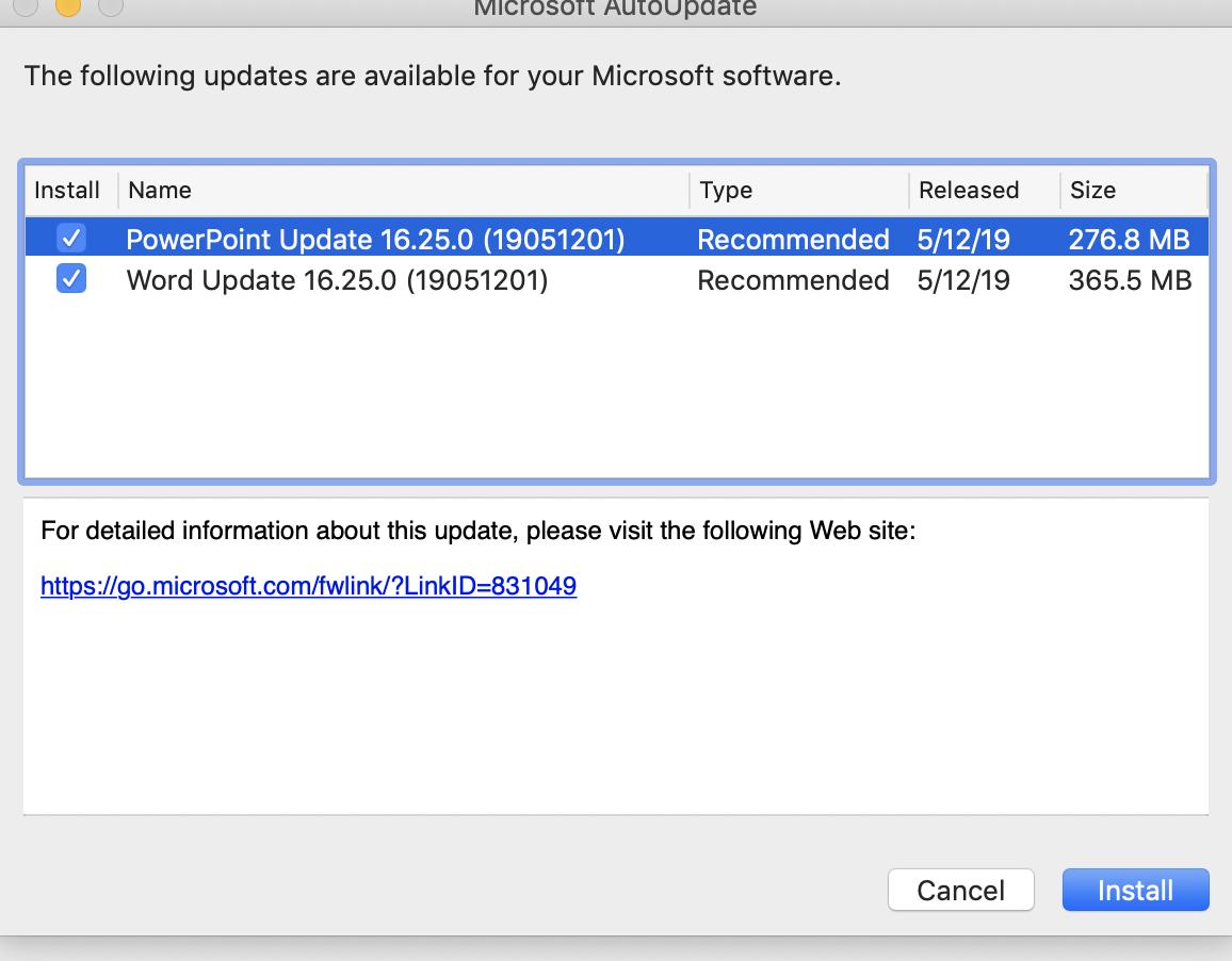 Microsoft Office for Mac 16 25 - TidBITS